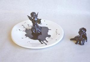 Engladiskur - Angel dish, ceramic bowls, ceramic, keramík hönnun